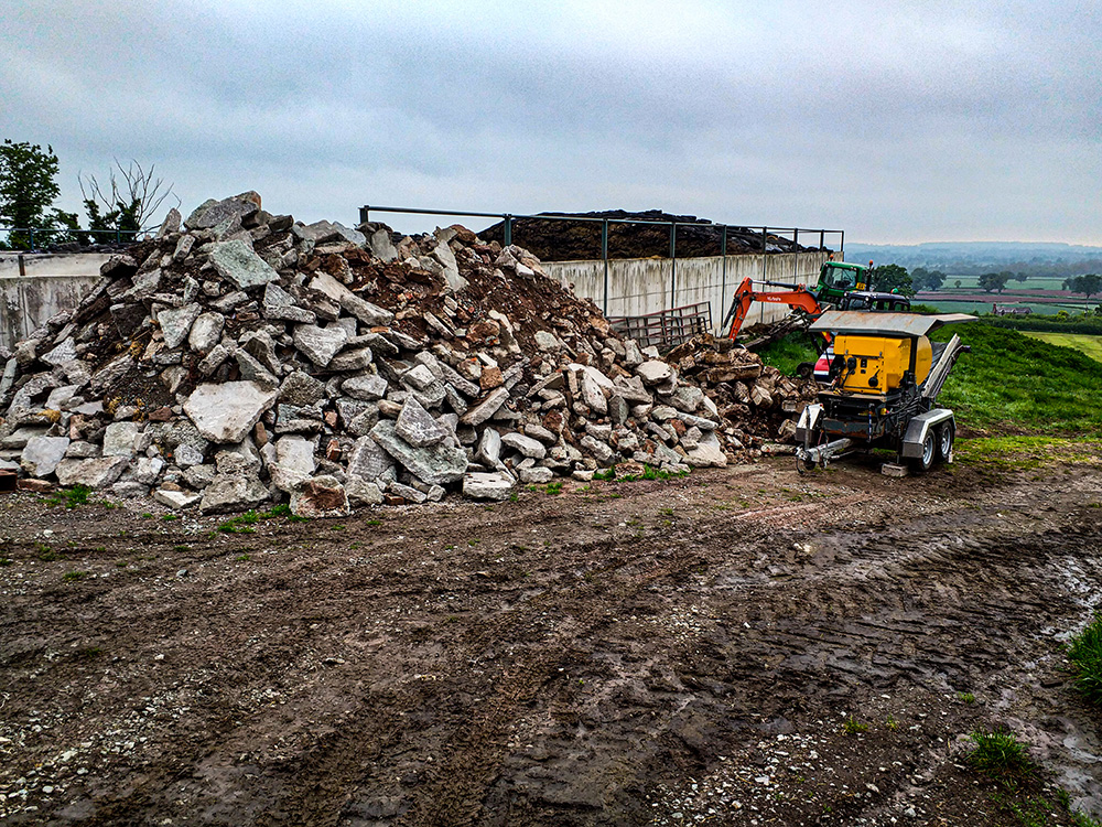 Concrete Crusher Hire Shropshire